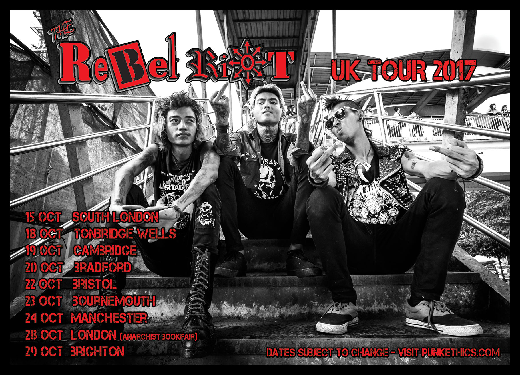 Rebel Riot UK Tour Flyer